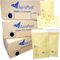 Aeropost Gold Bubble Lined Envelopes Bags 100 x 165mm Size 1